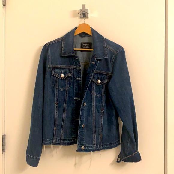 A&F denim Jacket with details